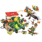 Wholesale - Plants Vs Zombies Lego Compatible Building Blocks Mini Figure Toys The Sky City 926Pcs JX90090