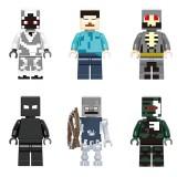 wholesale - 6Pcs Set MineCraft Lego Compatible Herobrine Block Mini Figure Toys 81011