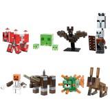 wholesale - 8Pcs Set MineCraft Lego Compatible Mooshroom Slime Bat Blocks Mini Figure Toys X0298