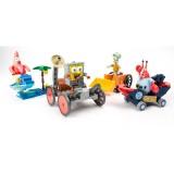 Wholesale - 4Pcs SpongeBob SquarePants Lego Compatible The Bikini Bottom Building Blocks Mini Figure Toys 030301