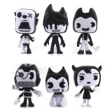 wholesale - 6Pcs Bendy and the Ink Machine Action Figures PVC Toys 9-11cm/2.3-4.3Inch Tall