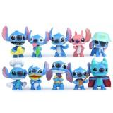 wholesale - 10Pcs Lilo & Stitch Action Figures Kits Mini PVC Toys 2Inch Tall