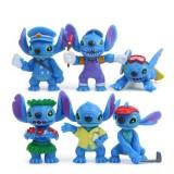 """wholesale - 6Pcs Stitch Action Figures Mini PVC Toys 3.3-5.3cm/1.3-2"""" Tall"""