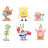 wholesale - 6Pcs SpongeBob SquarePants Action Figures Kit Mini PVC Toys 2.3-5.8cm/0.9-2.3Inch Tall