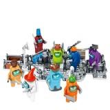 Wholesale - 8-In-1 Set Among Us Lego Compatible Building Blocks Mini Figure Toys DLP9128