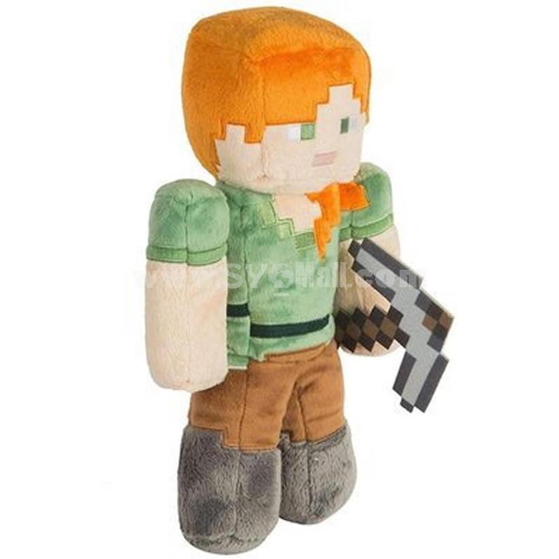 Minecraft Steve Alex Plush Toys Stuffed Dolls Big Size 30cm/12Inch