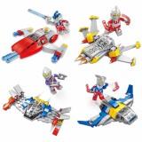 wholesale - Ultraman Lego Compatible Blocks Mini Figure Toys 4Pcs Set GM196