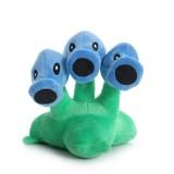 Wholesale - Plants vs Zombies Frozen Tri-Peashooter Plush Toy Stuffed Doll 17cm/6.7inch