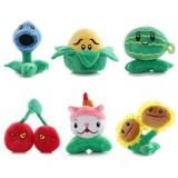 wholesale - 6Pcs Plants VS Zombies Plush Toys Stuffed Animals 15-20cm/6-8Inch Tall