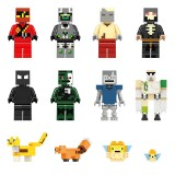 wholesale - 12Pcs Set MineCraft Herobrine Lego Compatible Block Mini Figure Toys 11405