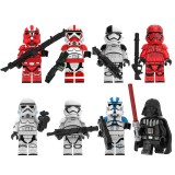 wholesale - Star Wars The Clone Troopers Block Mini Figure Toys Lego Compatible 8Pcs Set KT1034