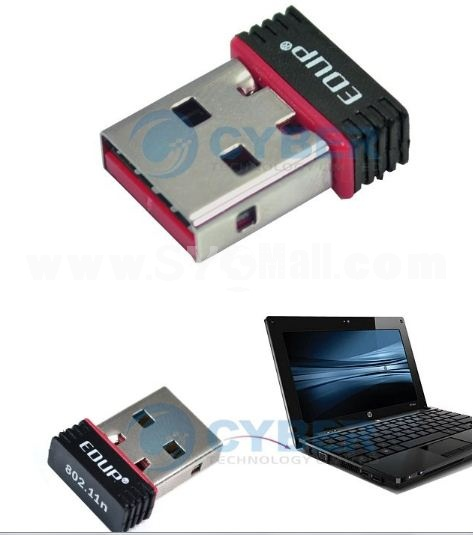 Mini 150M USB Wireless Network Card 802.11b/g/n WiFi LAN Adapter