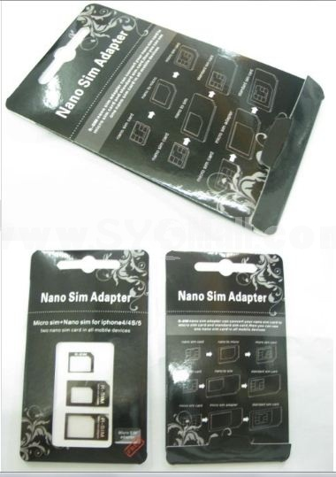 New Arrival Nano SIM Card to Micro/Stander/ full SIM Card Tray Adapter Holder For iPhone 5 5G New iPhone