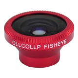 Wholesale - 180 Degree Fish Eye Wide Angle Lens Phone Camera for Apple iPhone 4 4G 4S Red
