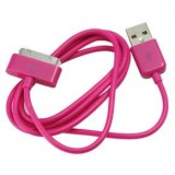 Wholesale - 97.5cm USB Data SYNC Charger Cable Cord for iPod and iPhone 4/3GS:Red