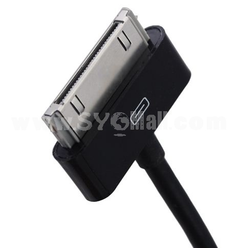 3M/118.11inch Length USB Charging Cable for iPhone/iPod/iPad-Black