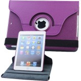 Wholesale - Leather 360 Degree Rotatable Stand Protective Cover Case for iPad Mini-Purple