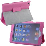 Wholesale - Soft PU Leather Case Protective Cover Pounch Stand for iPad Mini - Pink