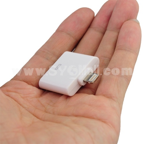 Lightning 8-pin to 30-pin Sync Charger Converter Adapter for iPhone 5/iPad Mini/iPad 4 - White