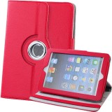 Wholesale - PU Leather 360°Rotation Stand Protection Cover Case for iPad Mini- Red