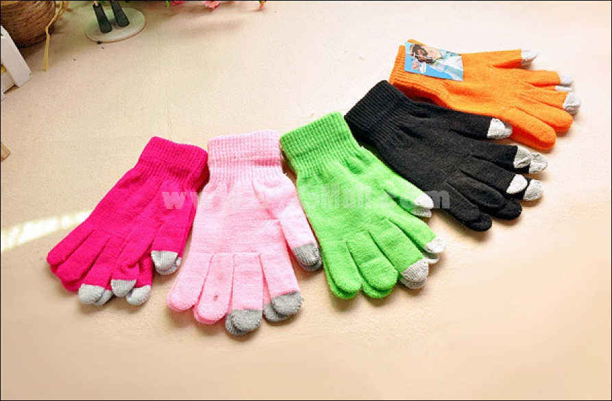 Nice knitted warm touch gloves