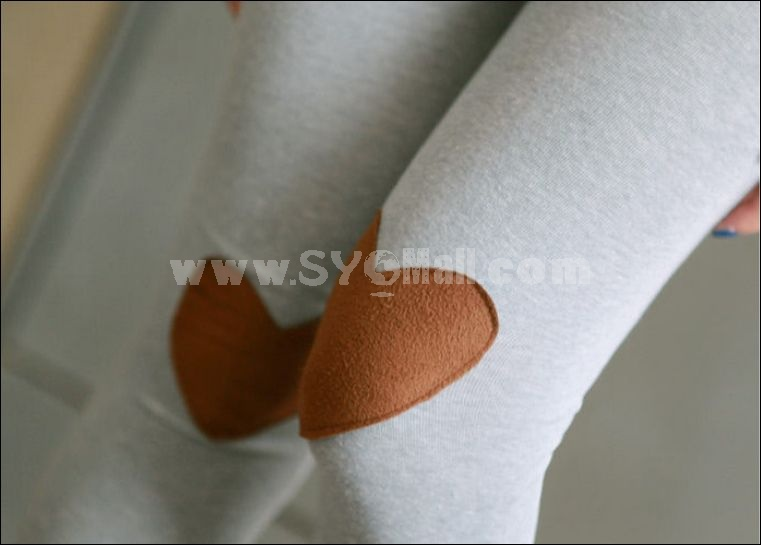 Pure cotton highly elastic legging with lovely heart shape on kees