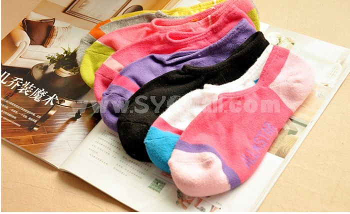 Extra thick multicolor warm ankle socks