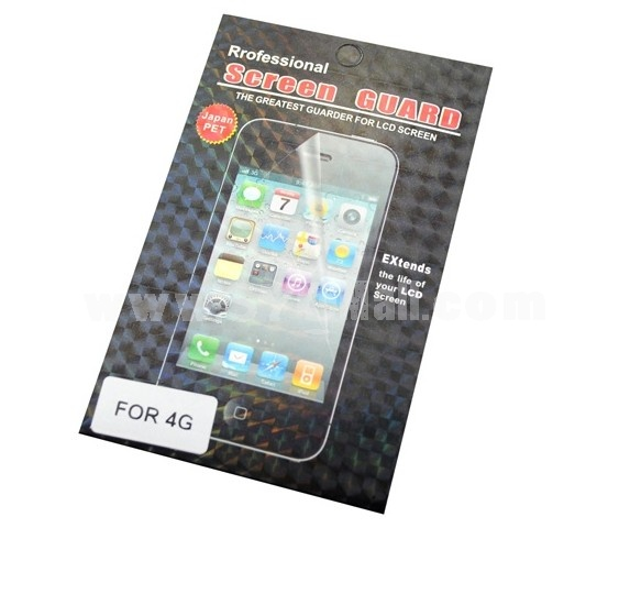 Clear Transparent Screen Protector for Apple iPhone 4G