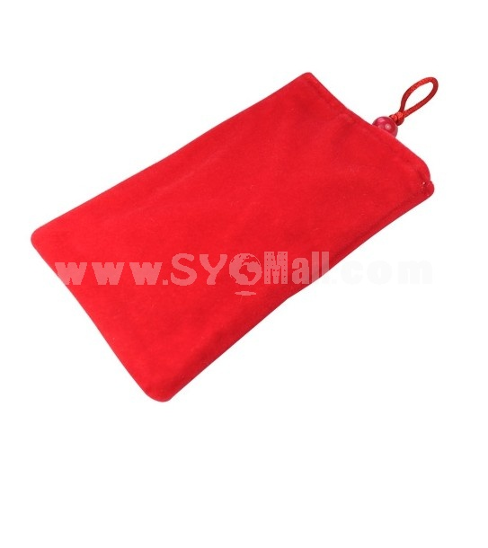 Protective Soft Cloth Case for Apple iPhone 4G (Red)