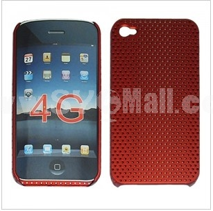 Plastic Skin Case Red for Apple iPhone 4G OS 4