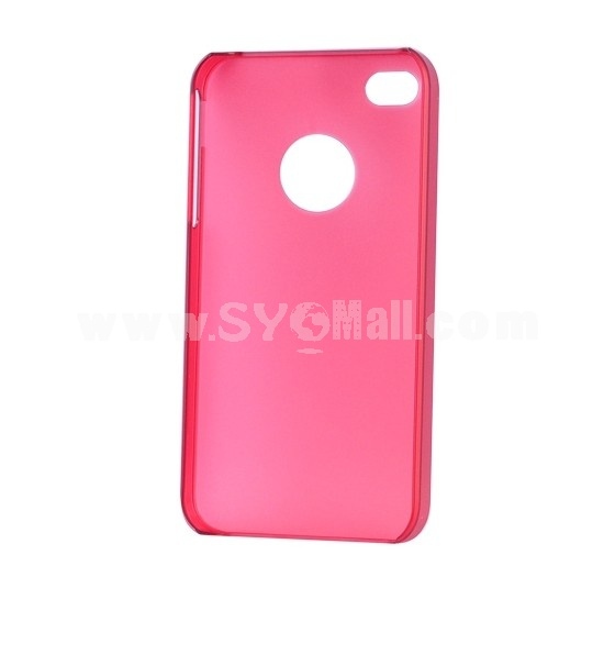 Lightweight Dull Polish Back Case Cover for iPhone 4/4S-Dark red