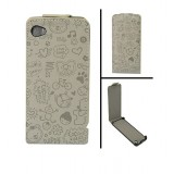 Wholesale - Magic Girl Series Leather Cover Case with Magnet Buckle for iPhone 4/4S-Gray