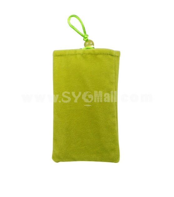 Protective Soft Cloth Case for Apple iPhone 4G (Green)