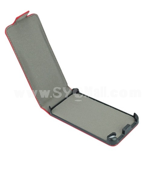 Magic Girl Series Leather Cover Case with Magnet Buckle for iPhone 4/4S- Red