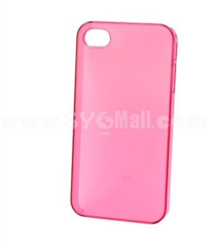 Crystal Transparent Hard PC Plastic Back Cover Case Back Protector for iPhone 4/4S-Red