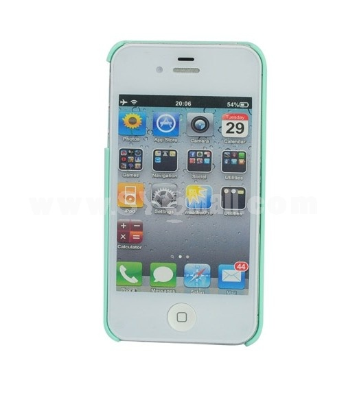 Exquisite Artware Flower Bling Hard Back Cover Case for iPhone4&4s-Green