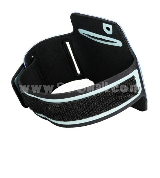 Sport Armband Arm Strap Cover Case Holder for iPhone iPod Touch-Blue