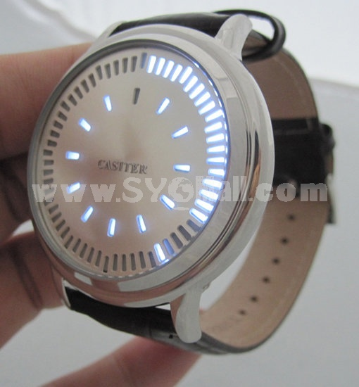 Touch-screen LED Watch