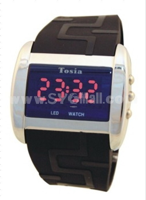 Silicon rubber watch