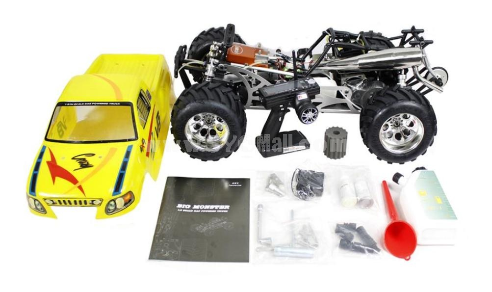 1/5 Scale Gas Powered 29cc 4WD Car with 3 Channel 2.4G Transmitter (BM290)