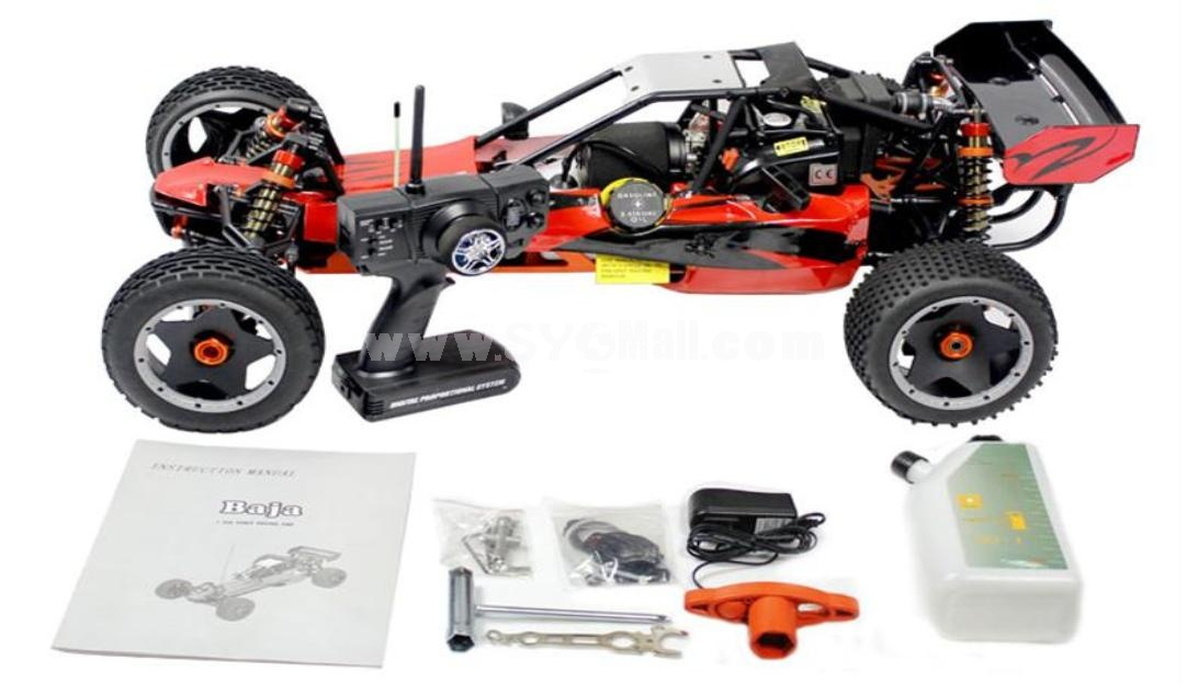 1/5 Scale 26cc RC car/Baja with 3 Channel 2.4G Transmitter (260A)