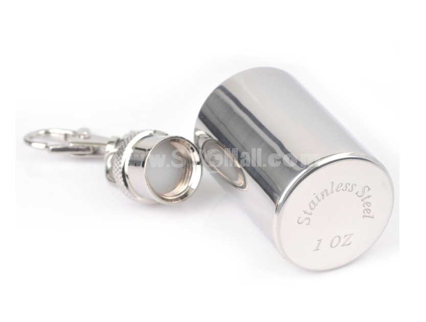 SMOKE mini 1 ounce key ring stainless steel wine pot with cups and funnel