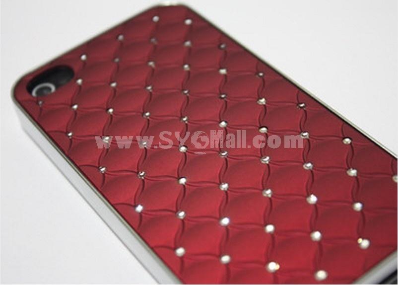 Red Luxury Rhinestone Crystal Cross Diamond For iPhone 4 4S