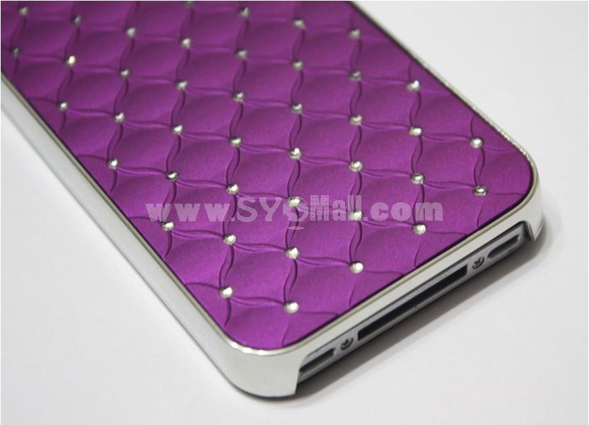 Purple Luxury Rhinestone Crystal Cross Diamond For iPhone 4 4S