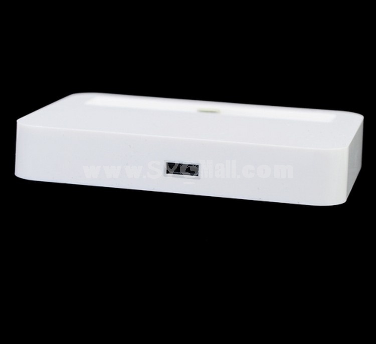 8-Pin Lightning Base Dock Charger for iPhone 5-White