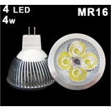 Wholesale - MR16 4*1W LED Down Lamp Spot Light Bulb, Cool White 4W
