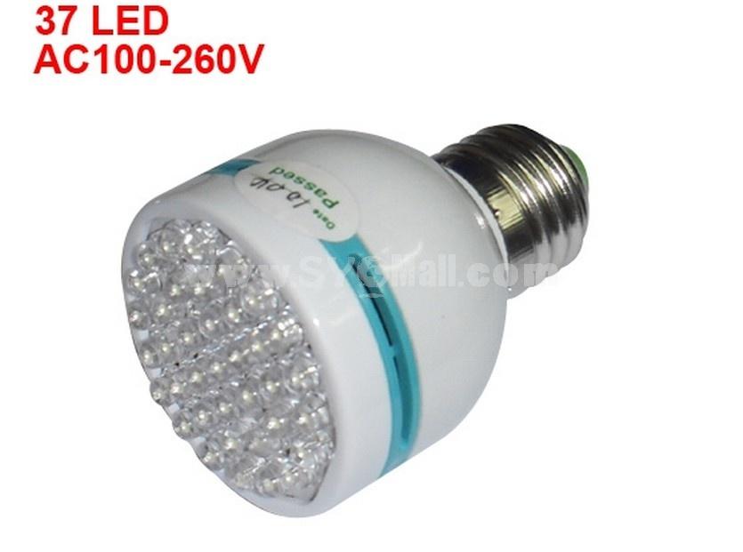 E27 37 LED Screw Lamp Light Bulb White