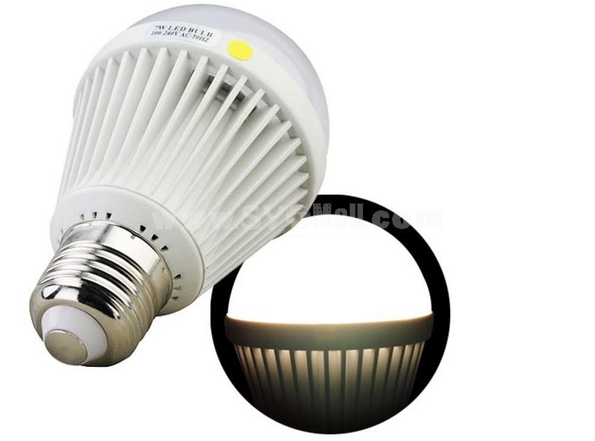 E27 AC100-240V 50Hz 7W 560LM Warm White Light Energy Saving LED Bulb