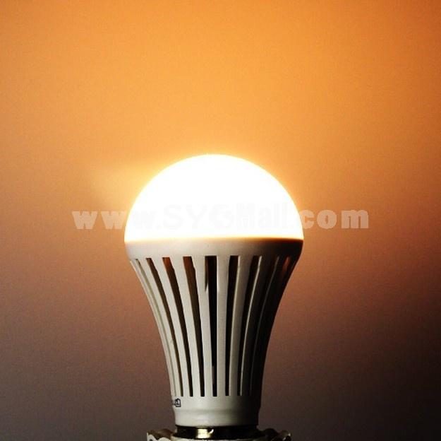 E27 AC100-250V 360LM 7W 5050SMD LED Bulb LED Light-Warm White Light