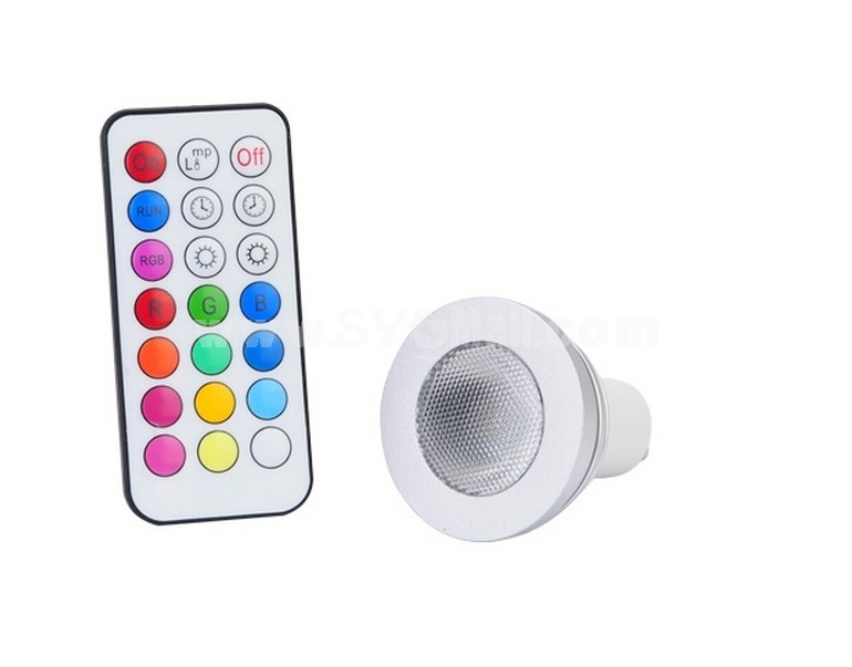 GU10 5W AC100V-240V RGB Light Over Two Million Colors LED Energy Saving Lamp with Remote Control